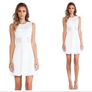 Rebecca Taylor White Cut Out Dress Aline Eyelet 4